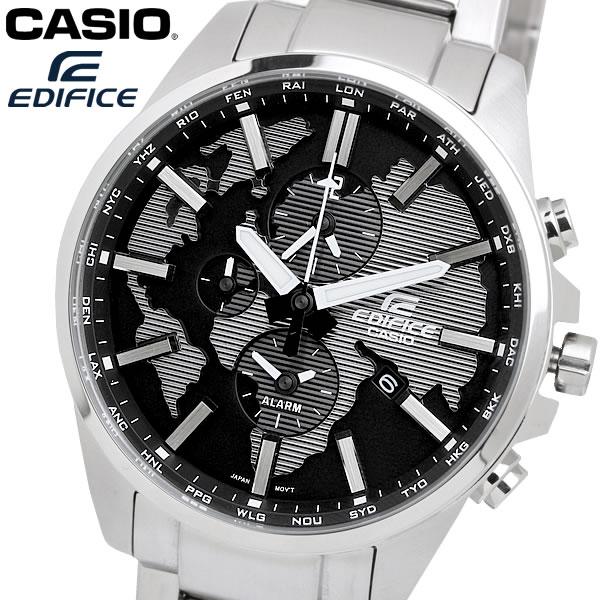 casio EDIFICE カシオ エディフィス クオーツ 腕時計 メンズ ワールドタイム 10気圧防水 デュアルタイム カレンダー アラーム ウォッチ ETD300D1A