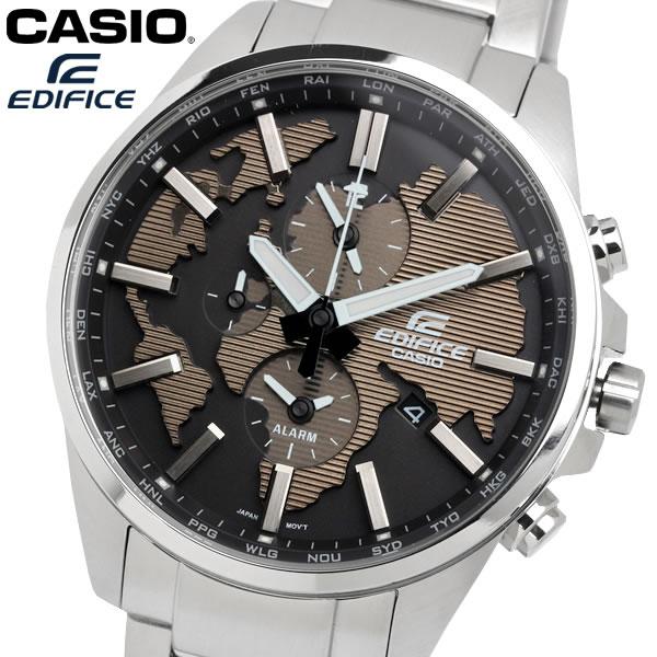 casio EDIFICE カシオ エディフィス クオーツ 腕時計 メンズ ワールドタイム 10気圧防水 デュアルタイム カレンダー アラーム ウォッチ ETD300D5A