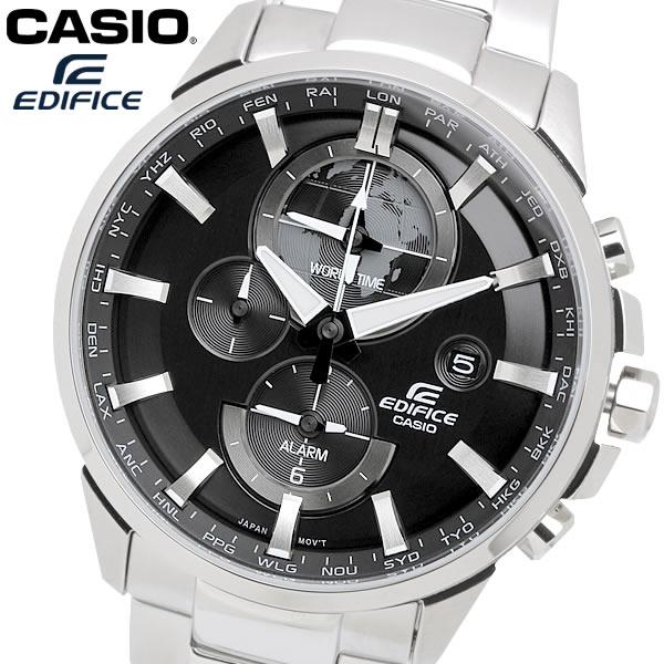 casio EDIFICE カシオ エディフィス クオーツ 腕時計 メンズ ワールドタイム 10気圧防水 日付カレンダー デュアルタイム アラーム ネオブライト ETD310D1A