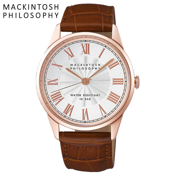 MACKINTOSH PHILOSOPHY マッキントッシュ フィロソフィー クオーツ腕時計 メンズ 10気圧防水 ローマンインデックス 牛皮革 クラシカル FCZK993