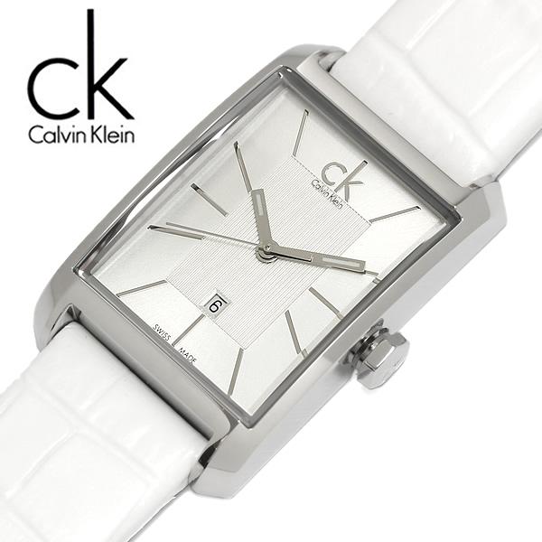 【送料無料】Calvin Klein カルバンクライン 腕時計 ウォッチ レディー 女性用 クオーツ 3気圧防水 デイトカレンダー スクエア k2m23120