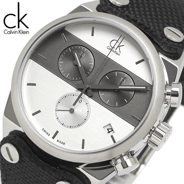 【送料無料】Calvin Klein カルバンクライン 腕時計 ウォッチ レディース 女性用 クオーツ 10気圧防水 ブラックテキスタイルストラップ k4b381b6