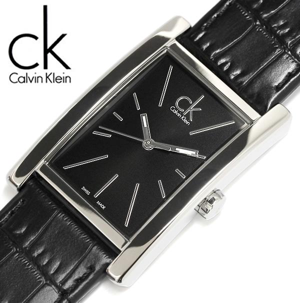 【送料無料】Calvin Klein カルバンクライン 腕時計 ウォッチ メンズ 男性用 クオーツ 3気圧防水 スクエア k4p211c1