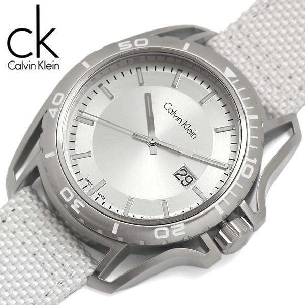 【送料無料】Calvin Klein カルバンクライン 腕時計 ウォッチ メンズ 男性用 クオーツ 3気圧防水 テキスタイルストラップ k5y31vk6