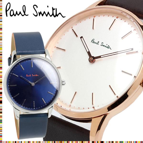 ポールスミス Paul Smith 腕時計 メンズ 革ベルト 子牛革 Unisex Slim 40mm クオーツ 日本製ムーブメント 5気圧防水 シンプル ファッション PS13