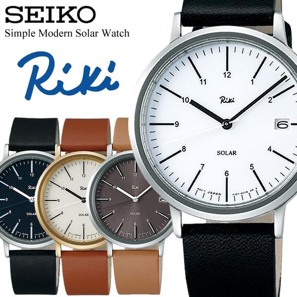 SEIKO ALBA セイコー Riki リキ ソーラー腕時計 ユニセックス デザインウォッチ 日常生活防水 日付カレンダー シンプル モダン 36mm RIKI01