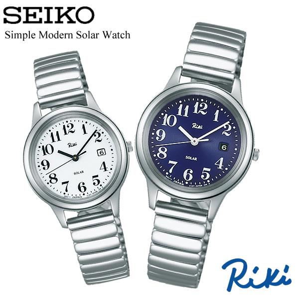 SEIKO ALBA セイコー Riki リキ ソーラー腕時計 ユニセックス デザインウォッチ 日常生活防水 日付カレンダー シンプル モダン 華奢 RIKI03