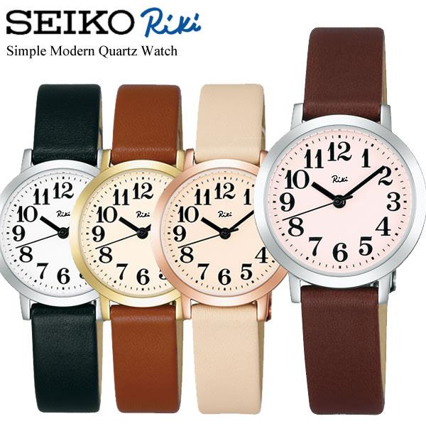 SEIKO ALBA セイコー Riki リキ クオーツ腕時計 レディース 日常生活防水 デザインウォッチ カーブ無機ガラス 牛皮革ベルト ブランド シンプル RIKI12