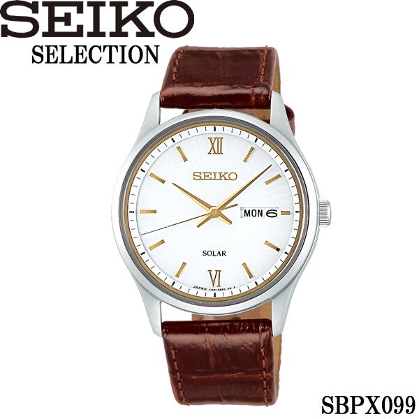【送料無料】seiko セイコー selection セレクション ソーラー 10気圧防水 腕時計 ウォッチ メンズ 男性用 カレンダー sbpx099
