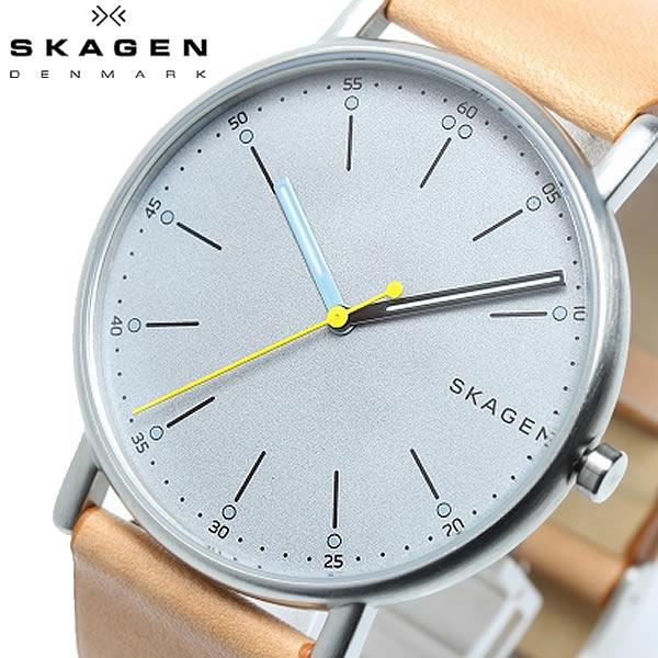 SKAGEN スカーゲン SIGNATUR シグネチャー 腕時計 クオーツ 5気圧防水 メンズ 40mm レザーバンド スタイリッシュ シンプル デンマーク SKW6373