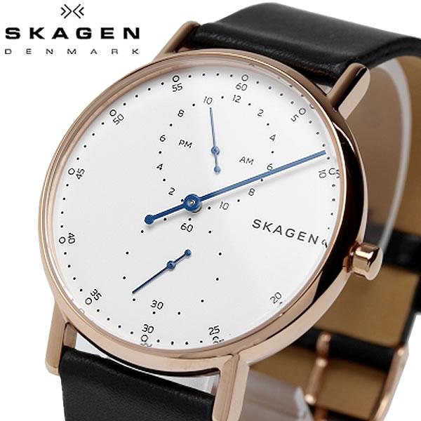 SKAGEN スカーゲン SIGNATUR シグネチャー 腕時計 クオーツ 5気圧防水 メンズ 40mm レザーベルト スタイリッシュ シンプル デンマーク SKW6390