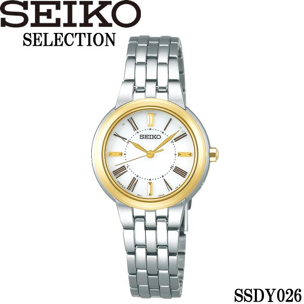 【送料無料】seiko セイコー selection セレクション ソーラー電波 10気圧防水 腕時計 ウォッチ レディース 女性用 ssdy026