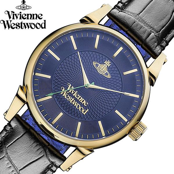 【送料無料】 【Vivienne Westwood】 ヴィヴィアンウエストウッド 腕時計 フィンズバリー クオーツ メンズ ブランド ウォッチ VV065NVBK