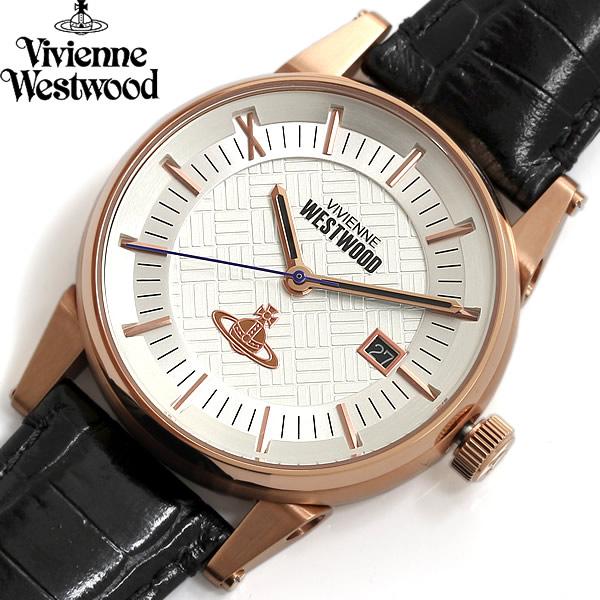 【送料無料】Vivienne Westwood ヴィヴィアンウエストウッド 腕時計 ウォッチ メンズ 男性用 デイトカレンダー vv065swhbk