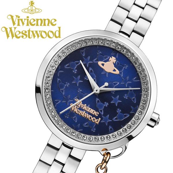 【送料無料】 【Vivienne Westwood】 ヴィヴィアンウエストウッド 腕時計 オーブチャーム シルバー レディース ステンレス VV139NVSL