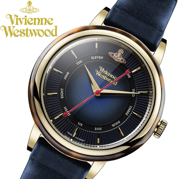 【送料無料】 【Vivienne Westwood】 ヴィヴィアンウエストウッド Portobello ポルトベッロ ネイビー ブランド 腕時計 レディース VV158BLBL