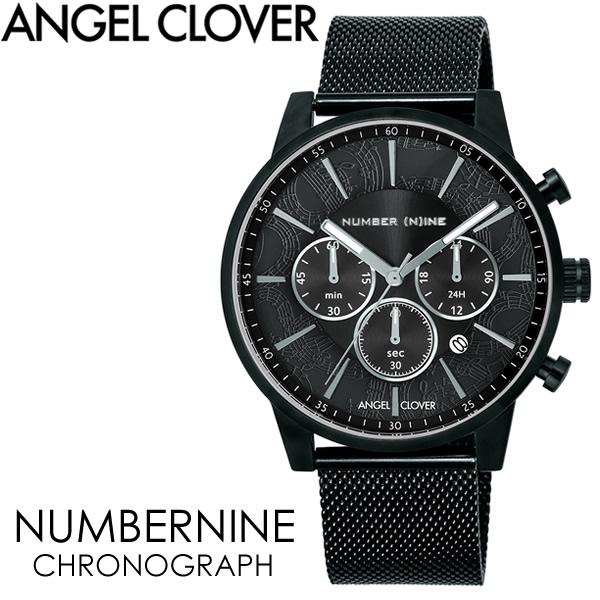 【送料無料】ANGEL CLOVER エンジェルクローバー NUMBERNINE 腕時計 ウォッチ メンズ 男性用 クオーツ 日常生活防水 クロノグラフ nnc42bbk