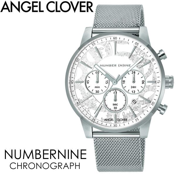 【送料無料】ANGEL CLOVER エンジェルクローバー NUMBERNINE 腕時計 ウォッチ メンズ 男性用 クオーツ 日常生活防水 クロノグラフ nnc42swh