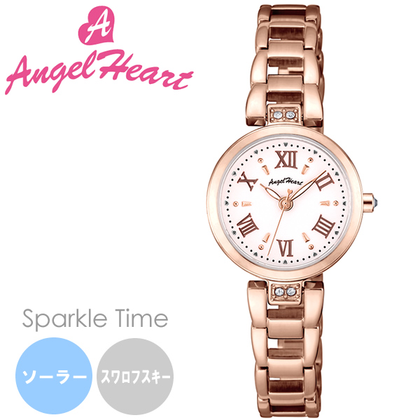 【送料無料】AngelHeart エンジェルハート Sparkle Time スパークルタイム 腕時計 ウォッチ レディース ソーラー 日常生活防水 スワロフスキーエレメント st24pg