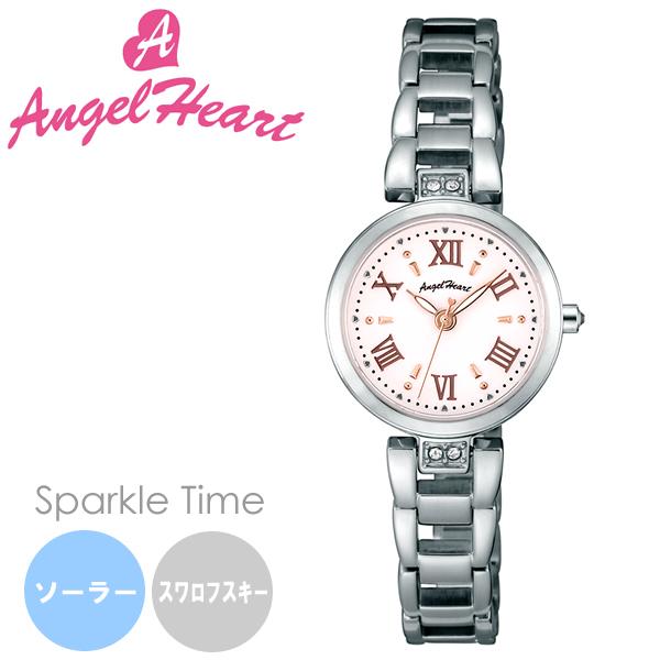 【送料無料】AngelHeart エンジェルハート Sparkle Time スパークルタイム 腕時計 ウォッチ レディース ソーラー 日常生活防水 スワロフスキーエレメント st24sp