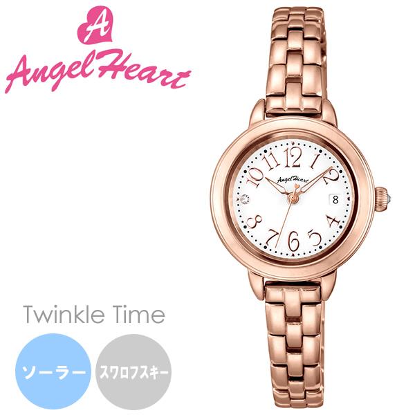 【送料無料】AngelHeart エンジェルハート Twinkle Time トゥインクルタイム 腕時計 ウォッチ レディース ソーラー 日常生活防水 スワロフスキーエレメント tt26pg