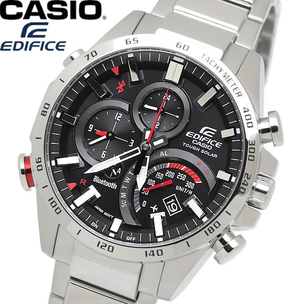 【送料無料】CASIO カシオ EDIFICE エディフィス メンズ 男性用 腕時計 ウォッチ 電波ソーラー 10気圧防水 ブルートゥース bluetooth eqb-501xd-1adr