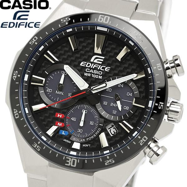 【感謝SALE】【送料無料】CASIO EDIFICE エディフィス 腕時計 クロノグラフ カーボンダイアル ウォッチ メンズ 男性用 10気圧防水 海外モデル EQS-800CDB-1A