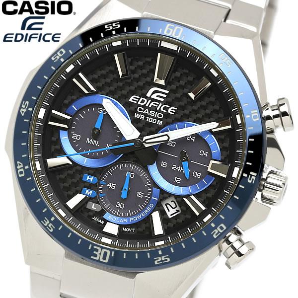 【感謝SALE】【送料無料】CASIO EDIFICE エディフィス 腕時計 クロノグラフ カーボンダイアル ウォッチ メンズ 男性用 10気圧防水 海外モデル EQS-800CDB-1B