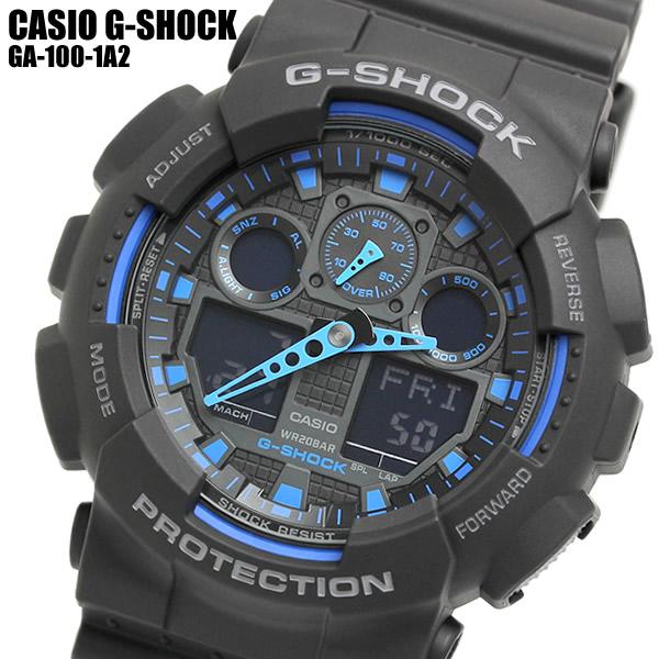 最大1000円OFFクーポン CASIO G-SHOCK カシオ Gショック メンズ 男性用 腕時計 ウォッチ 海外モデル GA-100-1A2