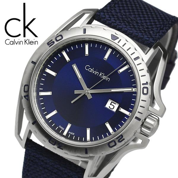 【送料無料】【Calvin Klein】【カルバンクライン】 アース クオーツ 腕時計 メンズ 42mm デイトカレンダー K5Y31UVN