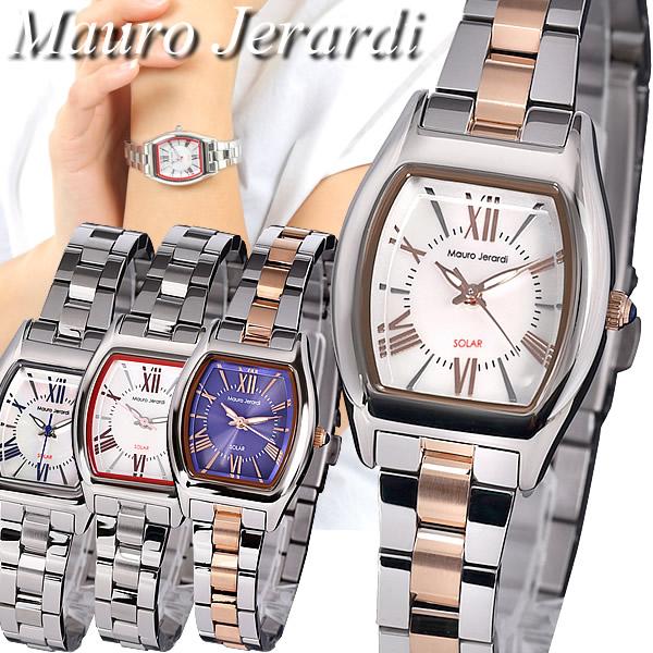 【送料無料】Mauro Jerardi マウロジェラルディ 腕時計 ウォッチ レディース 女性 ソーラー 日常生活防水 MJ058
