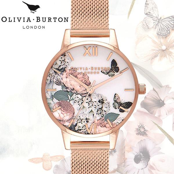 【送料無料】 OLIVIA BURTON オリビアバートン ENCHANTED GARDEN エンチャントガーデン レディース 腕時計 クオーツ OB16FS91