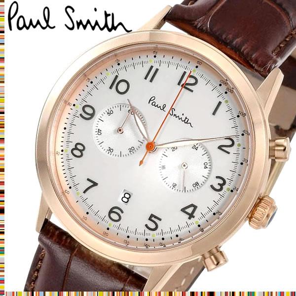【送料無料】Paul Smith ポールスミス 腕時計 ウォッチ クオーツ メンズ 男性用 クロノグラフ シンプル P10015