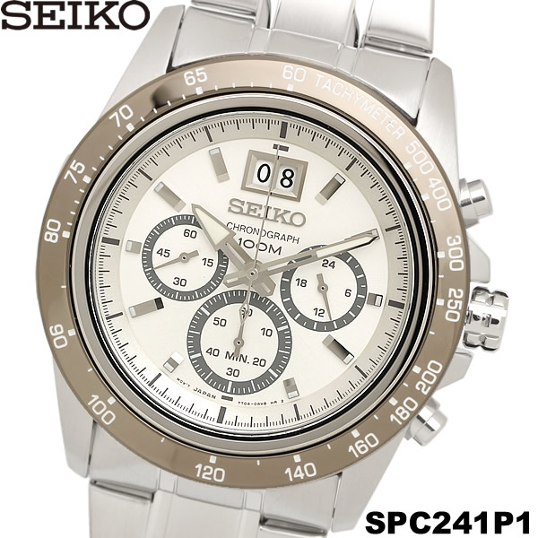 【感謝SALE】【送料無料】セイコー SEIKO 腕時計 ウォッチ メンズ 男性用 クロノグラフ 10気圧防水 SPC241P1