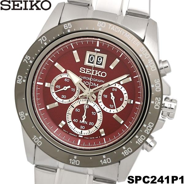 【送料無料】セイコー SEIKO 腕時計 ウォッチ メンズ 男性用 クロノグラフ 10気圧防水 SPC243P1