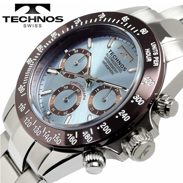 【送料無料】テクノス TECHNOS メンズ 腕時計 クオーツ 10気圧防水 クロノグラフ t4251ai