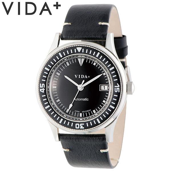【送料無料】VIDA+ ヴィーダプラス 腕時計 ウォッチ クオーツ ユニセックス 日常生活防水 カレンダー 45920-le-bk