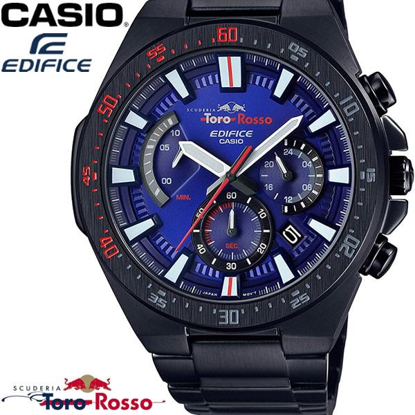 2021年新作入荷 CASIO カシオ EDIFICE エディフィス メンズ 腕時計 スクーデリア・トロ・ロッソ 限定モデル クロノグラフ ブルー ブラック EFR-563TR-2A ギフト, 手作り「キムチ」専門店 e7b6784d
