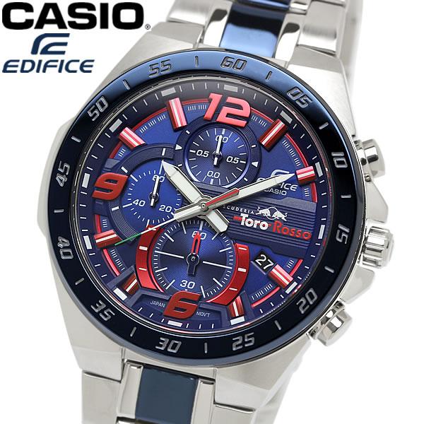 【スーパーSALE】【送料無料】CASIO カシオ EDIFICE エディフィス メンズ 腕時計 クロノグラフ スクーデリア・トロ・ロッソ・リミテッドエディション 限定モデル レッド ブルー ウォッチ EFR-564TR-2A