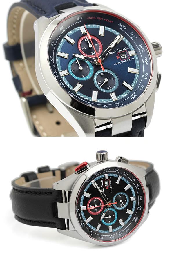 3b534563c0b6 楽天市場】ポールスミス Paul Smith 腕時計 メンズ クロノグラフ 革 ...