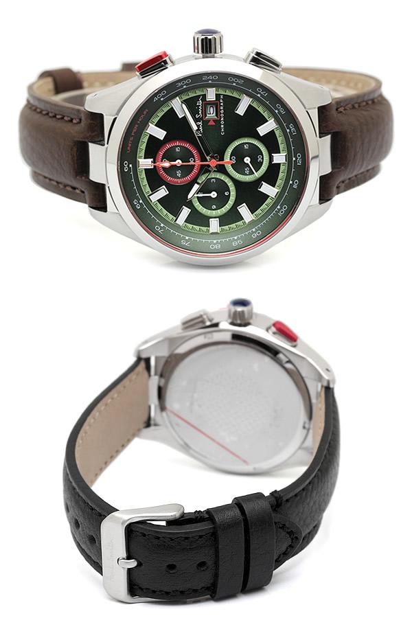 16cb90dacbc1 ポールスミスPaulSmith腕時計メンズクロノグラフ革ベルト本革レザーベルトクラシックブランド人気