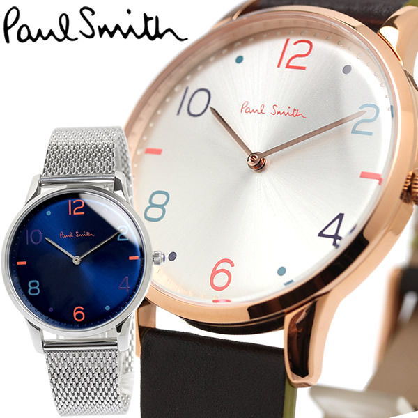 【スーパーSALE】【送料無料】Paul Smith ポールスミス 腕時計 ウォッチ メンズ クロノグラフ ステンレス レザー ps010004 ps0100005