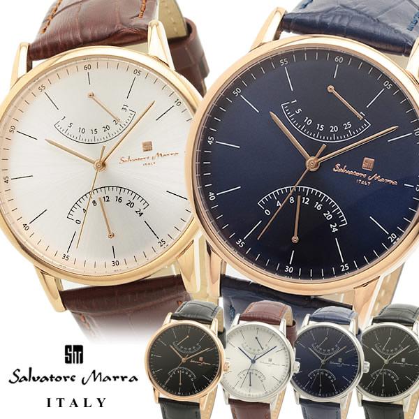 【スーパーSALE】【送料無料】【Salvatore Marra】 サルバトーレマーラ 腕時計 メンズ クオーツ 5気圧防水 スモールセコンド カレンダーsm19105 ギフト