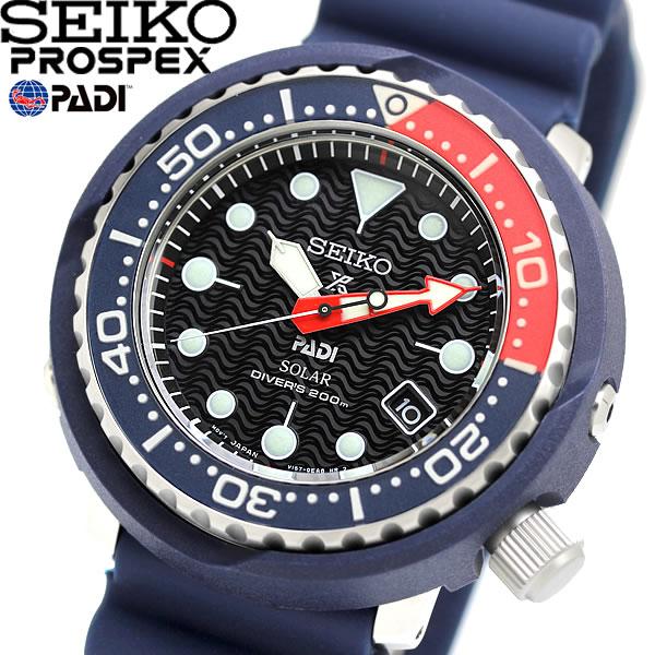 【送料無料】SEIKO PADI セイコー プロスペックス パディコラボ ソーラー ダイバーズウォッチ ラバーベルト 腕時計 ウォッチ sne499p1