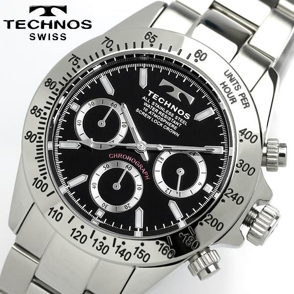 TECHNOS テクノス メンズ クロノグラフ 腕時計 TGM615SB