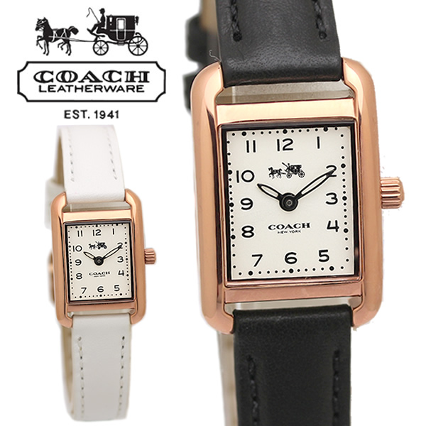 【スーパーSALE】COACH コーチ THOMPSON トンプソン腕時計 レディース ウォッチ スクエア クオーツ 日常生活防水 14502298 14502451