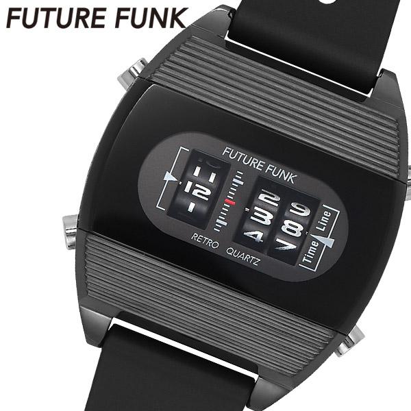 古典 【FUTURE FUNK】 フューチャーファンク 近未来 デザイン ローラーデジタルウォッチ 腕時計 ウォッチ メンズ クオーツ 男性用 プレゼント FF104-BK-RB, 防犯カメラのアストップケイヨー 77d2400d