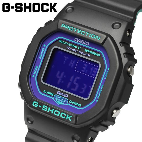 【送料無料】G-SHOCK カシオ CASIO 海外モデル 電波ソーラー デジタル Bluetooth 腕時計 Gショック カレンダー ブラック GW-B5600BL-1DR