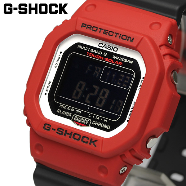 Gショック G-SHOCK 電波 ソーラー Bluetooth 腕時計 メンズ デジタル ウォッチ ブラック レッド カシオ CASIO 海外モデル ギフト GW-M5610RB-4ER