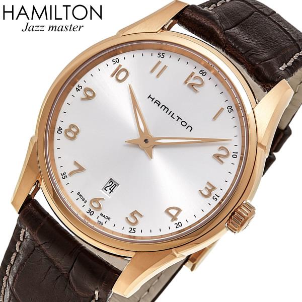 【スーパーSALE】ハミルトン ジャズマスター シンライン 腕時計 メンズ スイス製 革ベルト レザー ウォッチ HAMILTON JAZZMASTER H38541513 MADE IN SWISS